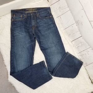 American Eagle Relaxed Straight Jeans Mens 34x34